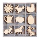Wooden Laser Cut Ornaments - Case of 45, Farm